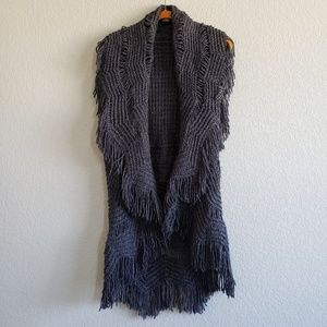 BKE Boutique | Bohemian Fringe Waterfall Vest Cozy